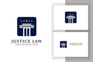 pillar logo design template. justice law and attorney logo design vector