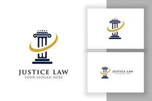 pillar logo design template. justice law attorney logo design template vector