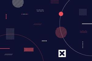 fondo abstracto de memphis vector