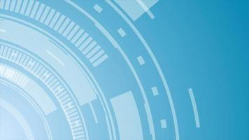 Tech blue abstract gear motion graphic design video