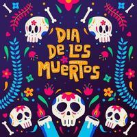 Dia De Los Muertos Background Concept vector