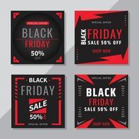 Black Friday Social Media Post vector