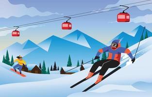 Winter Sport Activity vector
