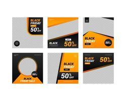 Black Friday Sale Social Media Posts vector