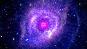 Space travel deep space exploration travel to Helix Nebula video