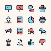 conjunto de iconos de elección vector