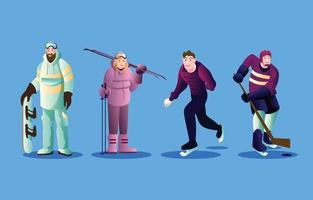 Winter Sports Character vector