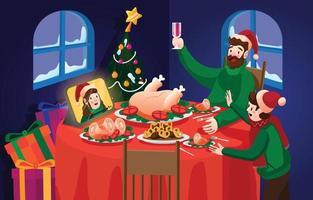 Family Christmas Eve Dinner vector