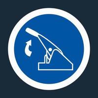 Pull Parking Brake Symbol Sign On black Background On black Background vector