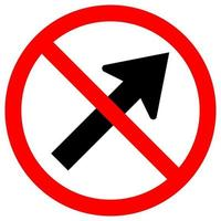 Prohibit Go To The Right By The Arrow Traffic Road Symbol Sign Isolate On White Background,Vector Illustration EPS.10 vector