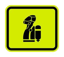 Wear SCBA Self Contained Breathing Apparatus Symbol Isolate On White Background,Vector Illustration EPS.10 vector