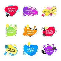 Did you know abstract shape badges set vector