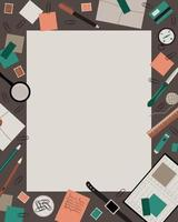 The lining, frame of the male desktop vector