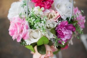 Flowers decorated for wedding background photo