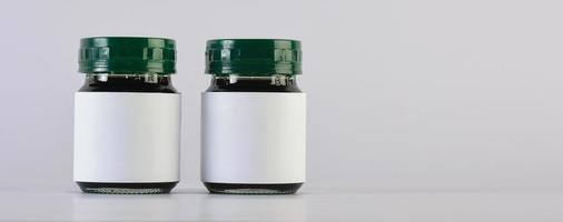 Empty bottle cream moisturizer lotion photo