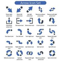 Arrow icon pack vector