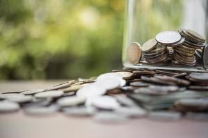 closeup. money of banknotes and coins photo