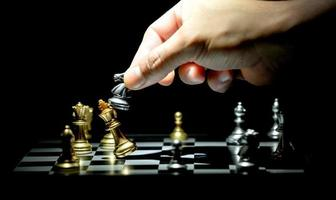 chess board game for competition and strategy photo