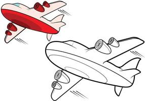Airbus sketch vector coloring page. Kids, children, preschool theme. Basic education level