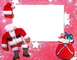 tarjeta de artesanía de papel 3d con temática navideña foto