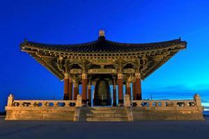 Tourist Monument Korean Friendship Bell in San Pedro, Cailfornia photo
