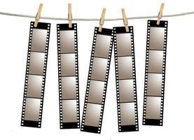 Tiras de película negativa de película antigua foto