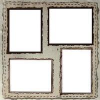 diseño de página de papel de álbum de recortes hecho a mano para insertar sus imágenes foto