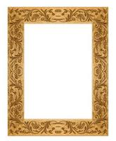 rectangular grunge sucio viejo marco dorado foto