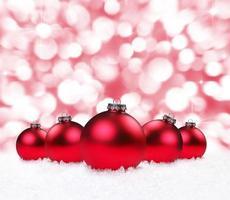 bombillas navideñas con fondo brillante foto