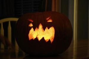 Carved Glowing Pumpkin photo