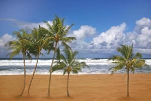 hermosa imagen de playa de destino de viaje foto