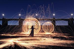 Long Exposure Light Painted Imagery With Color photo