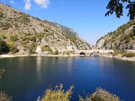 San Domenico lake in Villalago, Italy photo