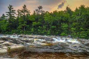 Summer on the swift river, middle falls early in morning photo