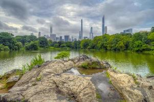 Central Park, New York City at the lake photo