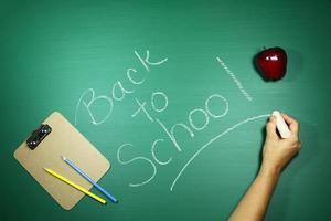 imagen de fondo temática de regreso a la escuela verde foto