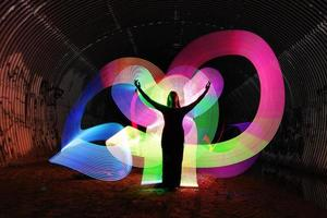 Light Painting With Color and Tube Lighting photo