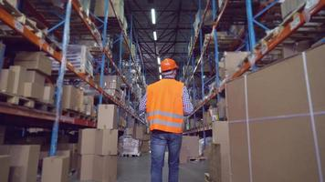 trabajador de la fábrica en stock. video
