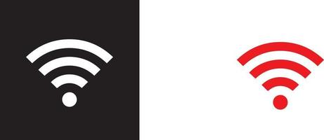 WiFi Network signal - Red and black icon vector