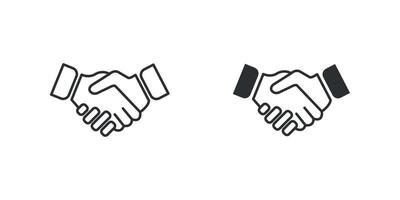 handshake icon symbol Free Vector