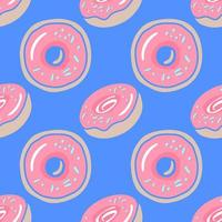 donuts - seamless colored vector background. donuts - illustration in flat style