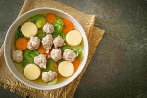 Clear Soup with Tofu and Minced Pork photo