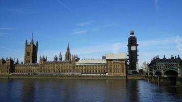 timelapse London City with Big Ben and Thames River in England video