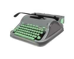 Portable typewriter from multicolored paints. Splash of watercolor, colored drawing, realistic. Vector illustration of paints