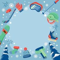 Winter Sport Equipment Concept vector