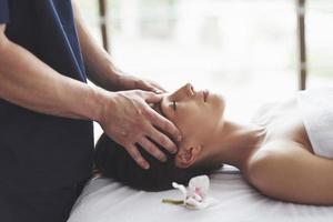 Traditional oriental massage therapy and beauty treatments. photo