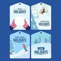Invitation Card Winter Holidays Seasons vector