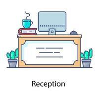 recepción y atención al cliente vector