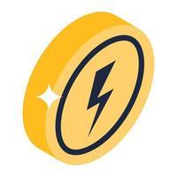 Energy Bolt Coin vector