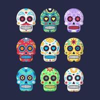 Sugar Skull Icon Collection vector